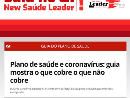 Saiu no G1: New Saúde Leader | Plano de Saúde e Coronavírus