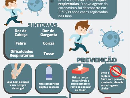 Atenção! Previna-se do coronavírus!
