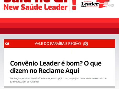 Saiu no G1: New Saúde Leader!