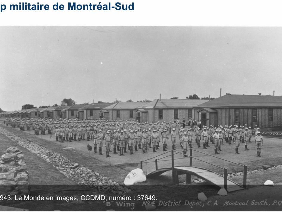 Caserne militaire à la sortie du pont Jacques-Cartier