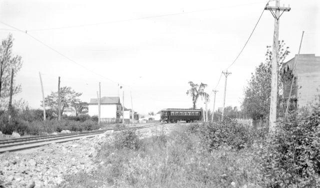 Tramway au coin de Joliette et St-Laurent, Longueuil 1920
