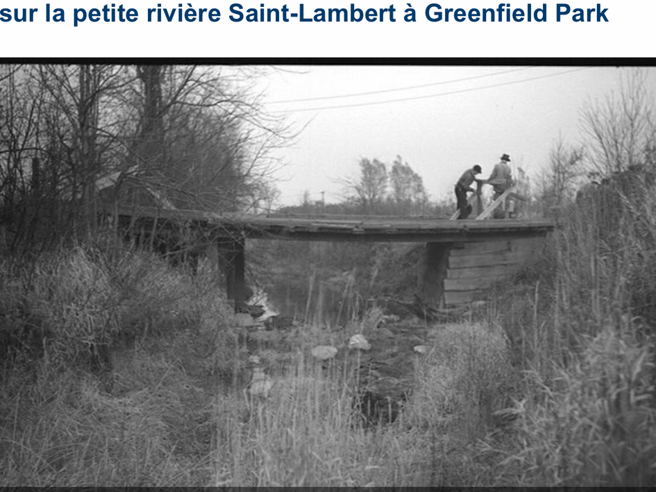 Pont au-dessus du ruisseau St-Lambert à Greenfield Park