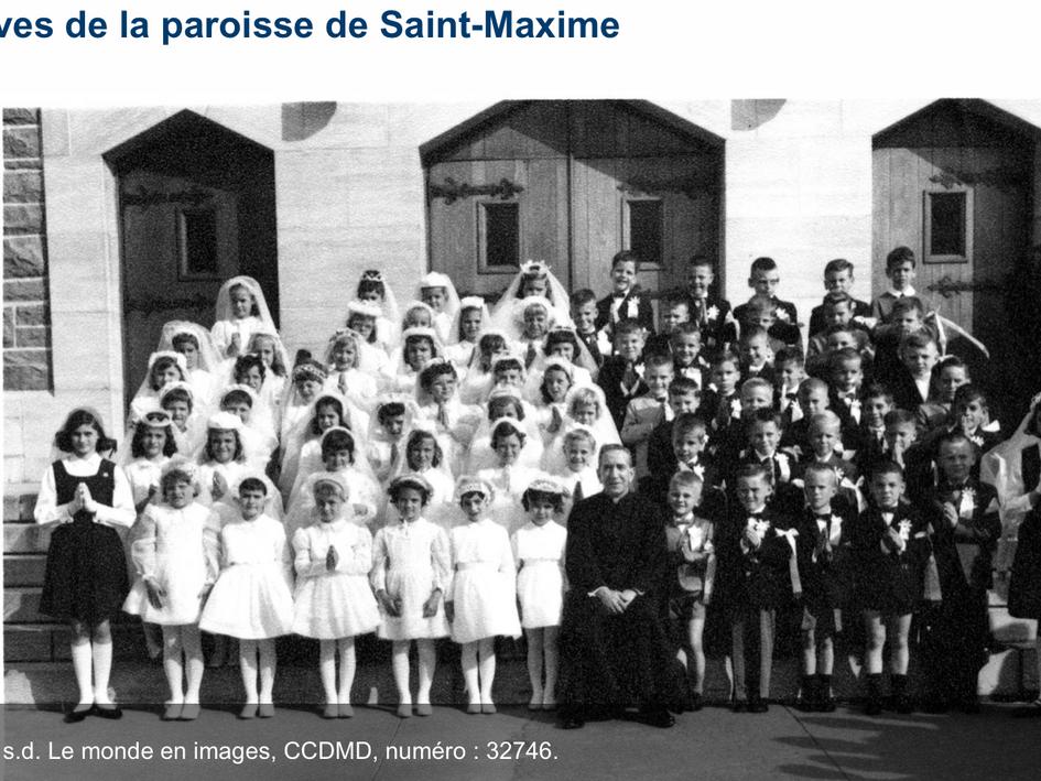 Élèves de la paroisse Saint-Maxime