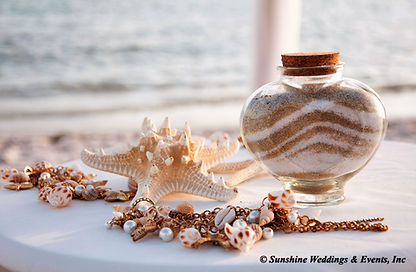 Weddings Sand Ceremony at Smathers beach, Key West
