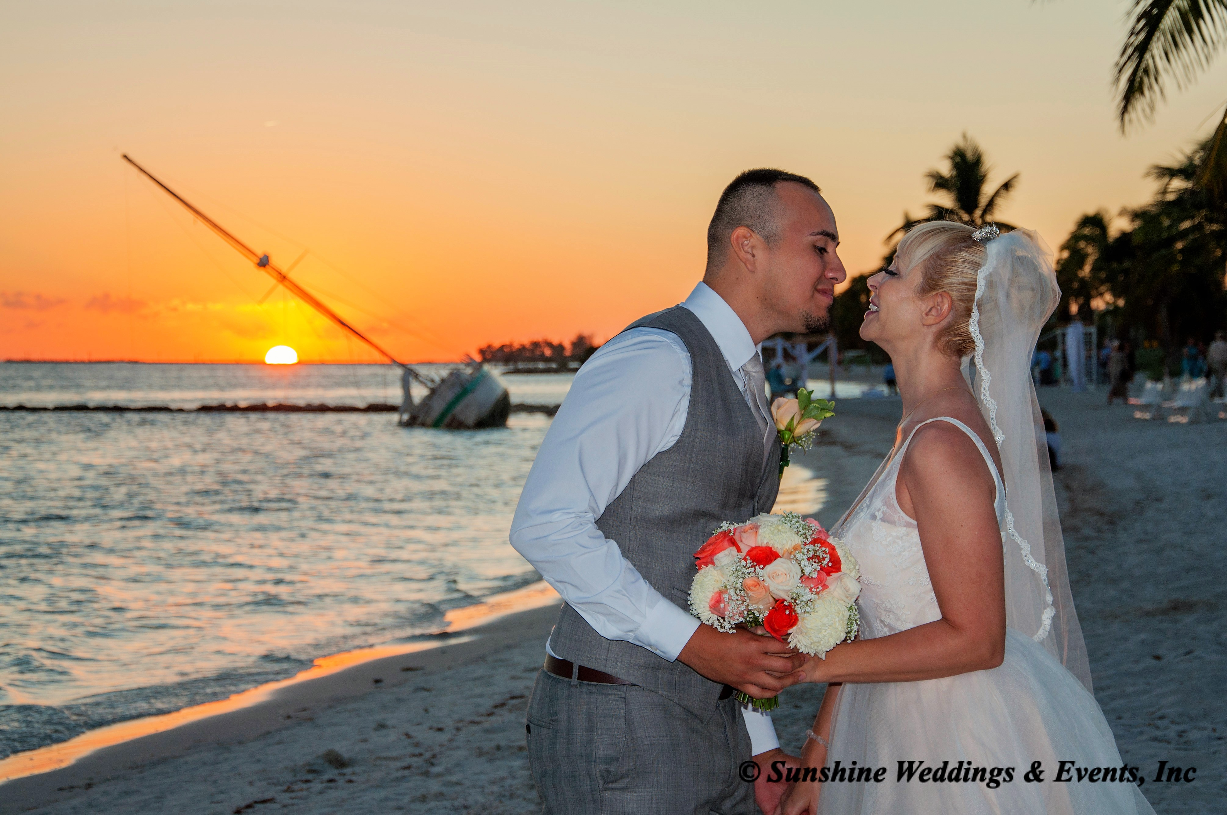 Sunset wedding Key West