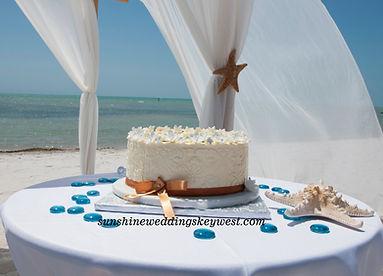 Key west 1-tier wedding cake