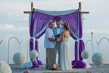 lovely key west beach wedding