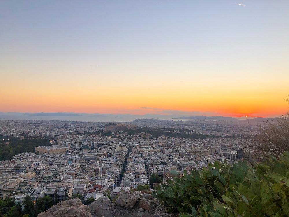 Sonnenuntergang-Athen-Lycabettus-huegel-reisetipp