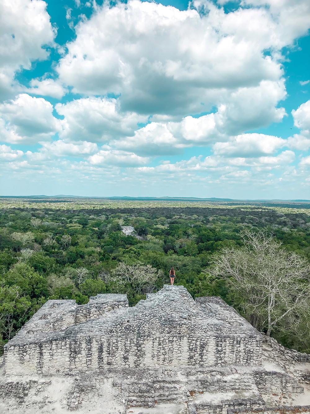 Mexiko-Tempel-Maya-Calakmul-ruinen-dschungel-eigene-Faust