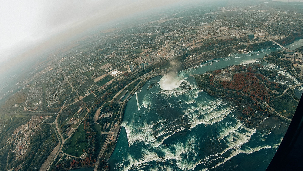 Kanada-Niagarafälle-Urlaub-Reisebericht-Hotel-Unternehmungen-Helikopterflug