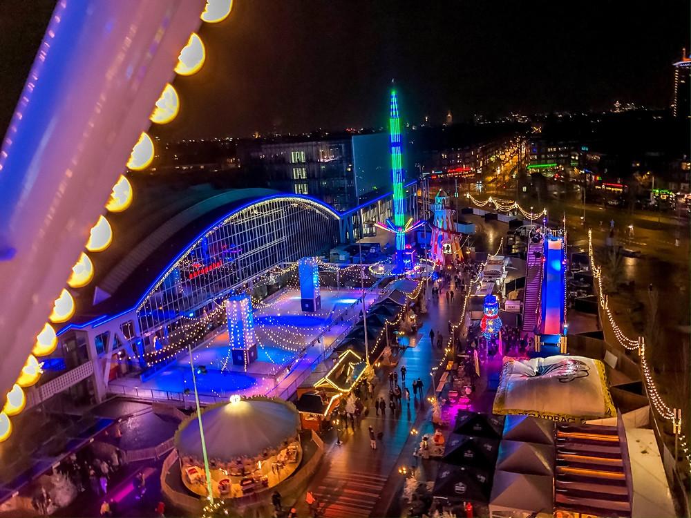 Amsterdam-Weihnachtsmarkt-Dezember-Weihnachtszeit-Reisebericht-Wochenende-riesenrad