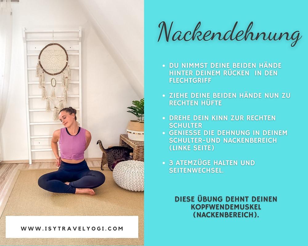 Yoga-Übungen-schultern-Nacken-Verspannungen-Dehnung