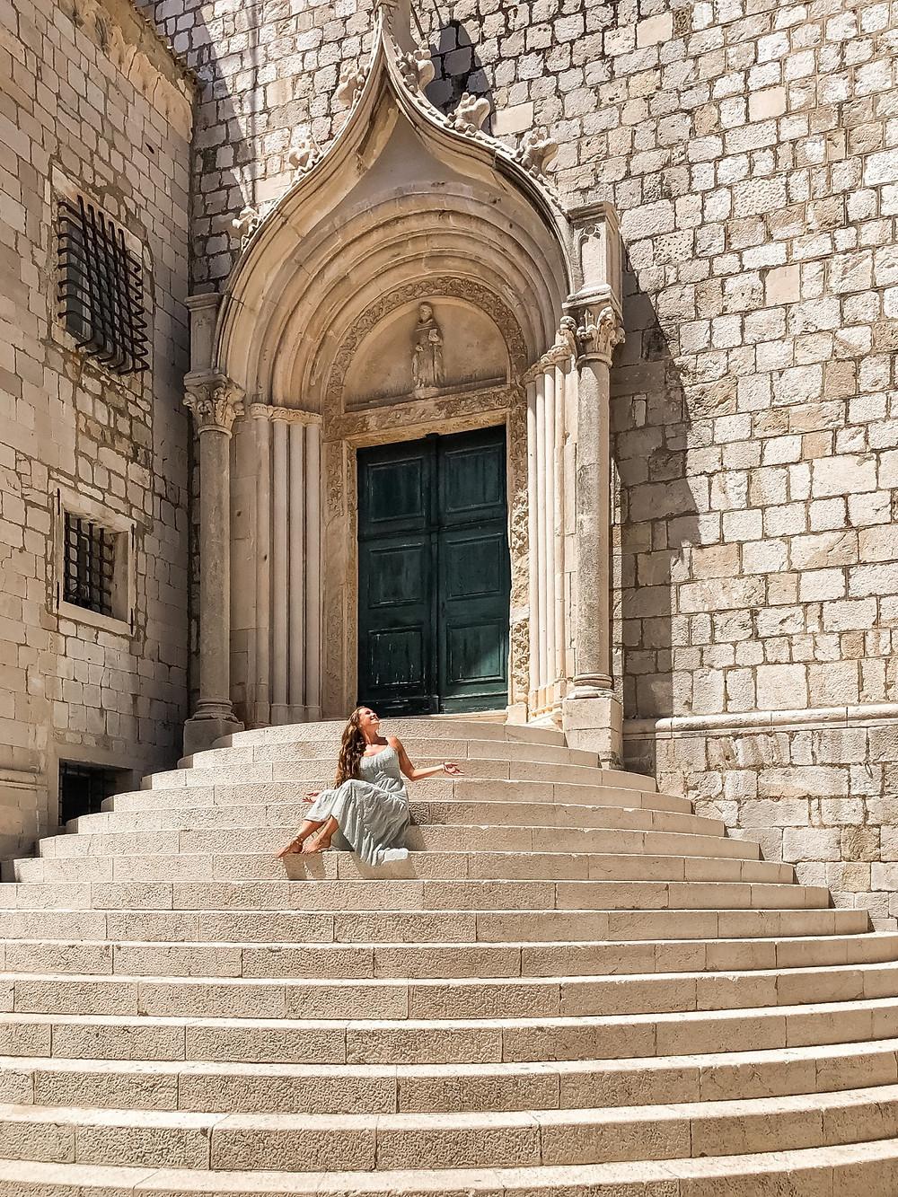 Dubrovnik-st-Sebastian-kirche-treppe-fotospot