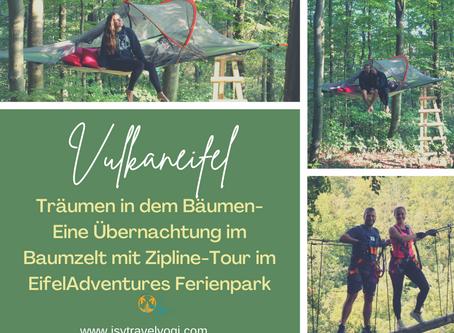 Träumen in den Bäumen: Eine Übernachtung im Baumzelt mit Zipline-Tour im EifelAdventures Ferienpark
