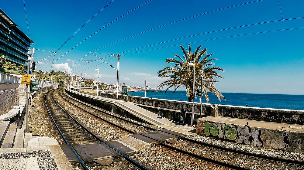 Cascais-Zug-rote-Linie-Strand