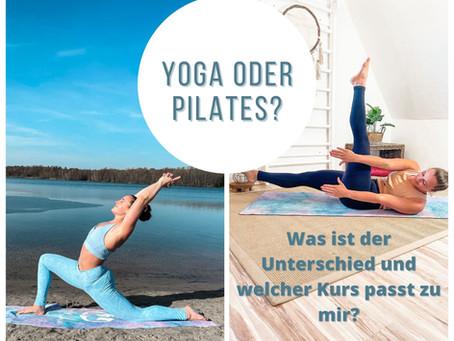 Yoga oder Pilates? Was ist der Unterschied und welcher Kurs passt zu mir?