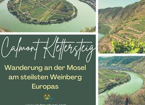 Wandern an der Mosel: Calmont Klettersteig- der steilste Weinberg Europas!