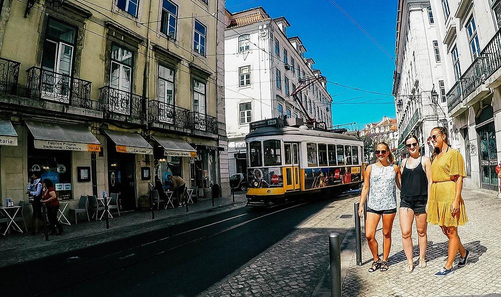 Lissabon-Straßenbahn-Instagram