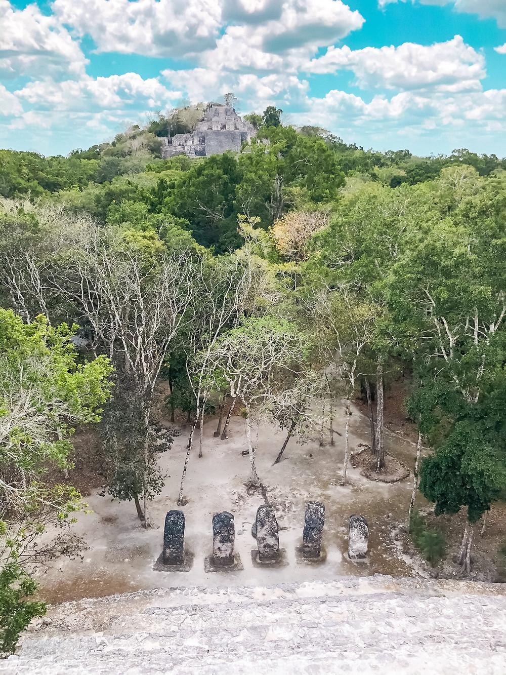 Calakmul-Mexiko-Maya-tempel-Ruinen-Anfahrt-Erfahrungen-Estructura-II