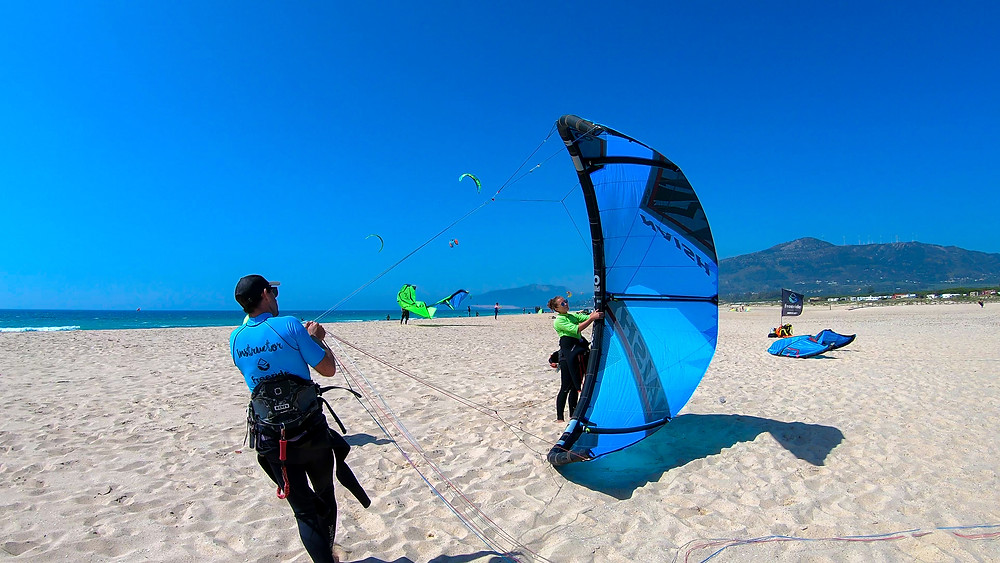 Andalusien-Tarifa.Kite-Surfing-Freeride