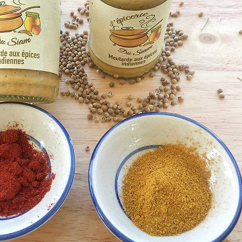 Moutarde aux épices Indiennes  180 g net