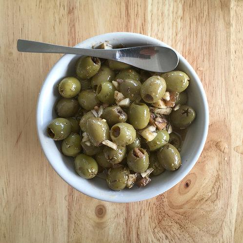 """Olives vertes marinées """"apéro"""" 190 g net"""