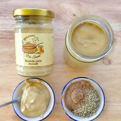 Moutarde au cumin et noix de muscade  180 g net