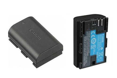 Canon LPE6 batteries and charger