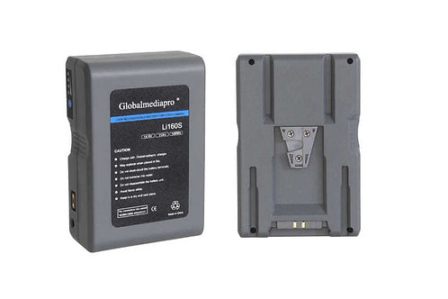 Globalmediapro Li160S Li-ion Rechargeable Battery for Video Camera 14.8V 11Ah 16