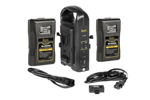 Gold Mount Battery Kit (2-Pack) w/ charger