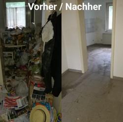 Wohnung vorher nachher messi Entrümpeln vorher
