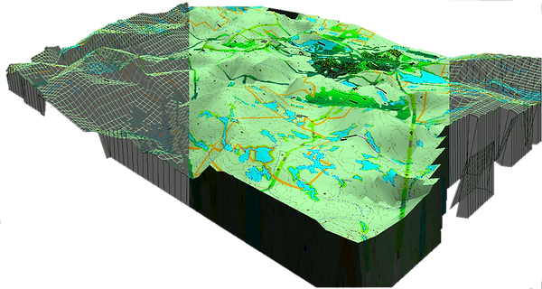 3D DTM DEM Topographic Map