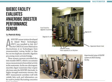 SENTRY published in ES&E for real-time monitoring of enhanced anaerobic digestion (AD) and biogas