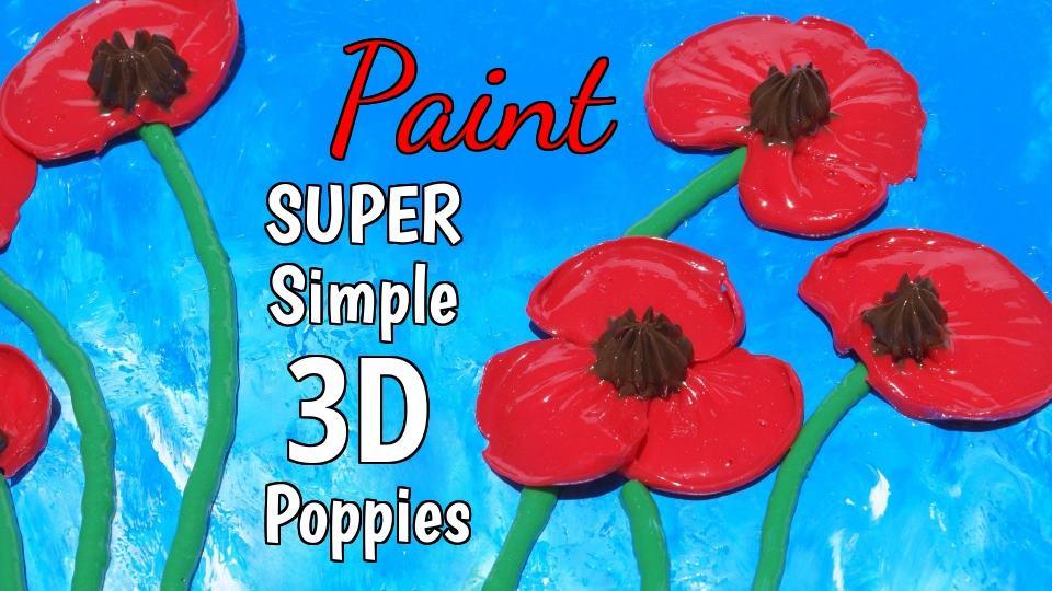 Super Smple 3D Poppies