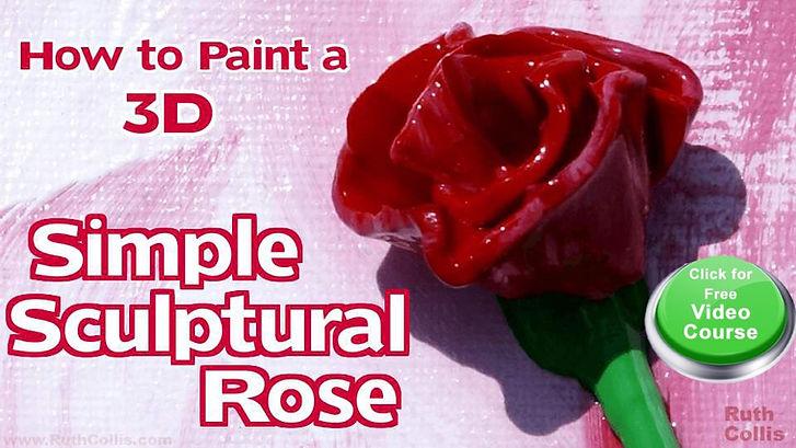 Simple Sculptural Rose online course