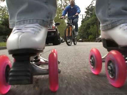 Fun camera angles with QuadLine roller skates