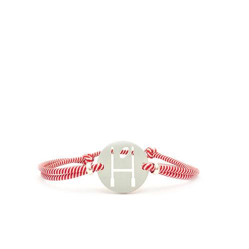 bracelet OVALIE ROUGE/BLANC