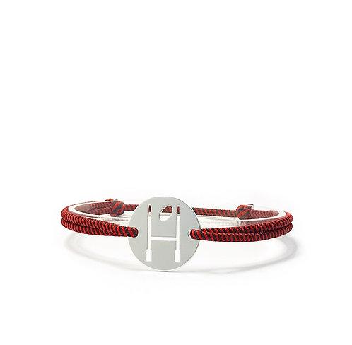 bracelet OVALIE - ROUGE/NOIR