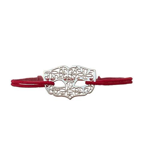 bracelet masque vénitien dentelle