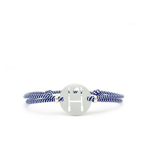 AMERICAN FOOTBALL bracelet - WHITE-BLUE