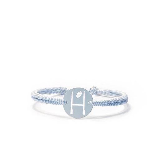 bracelet OVALIE CIEL/BLANC