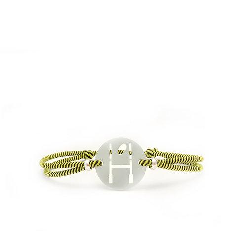 bracelet OVALIE JAUNE/NOIR