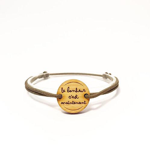 """bracelet """"le bonheur c'est maintenant"""""""