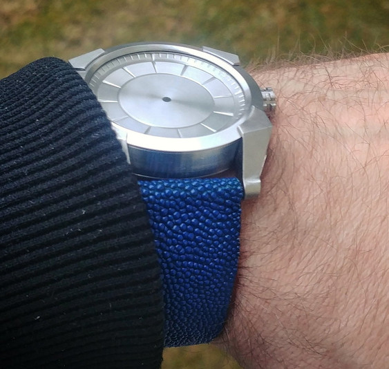 Fractalis prototype with stingray leather strap, and missing hands!