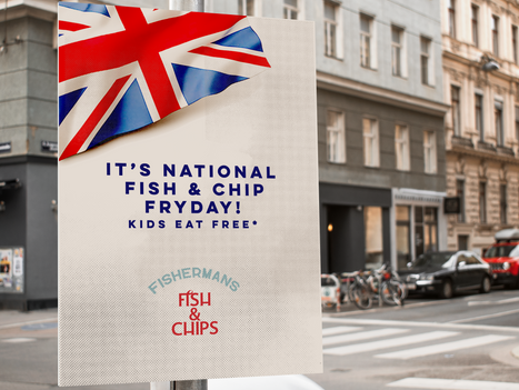 Mock poster for fish and chip branding