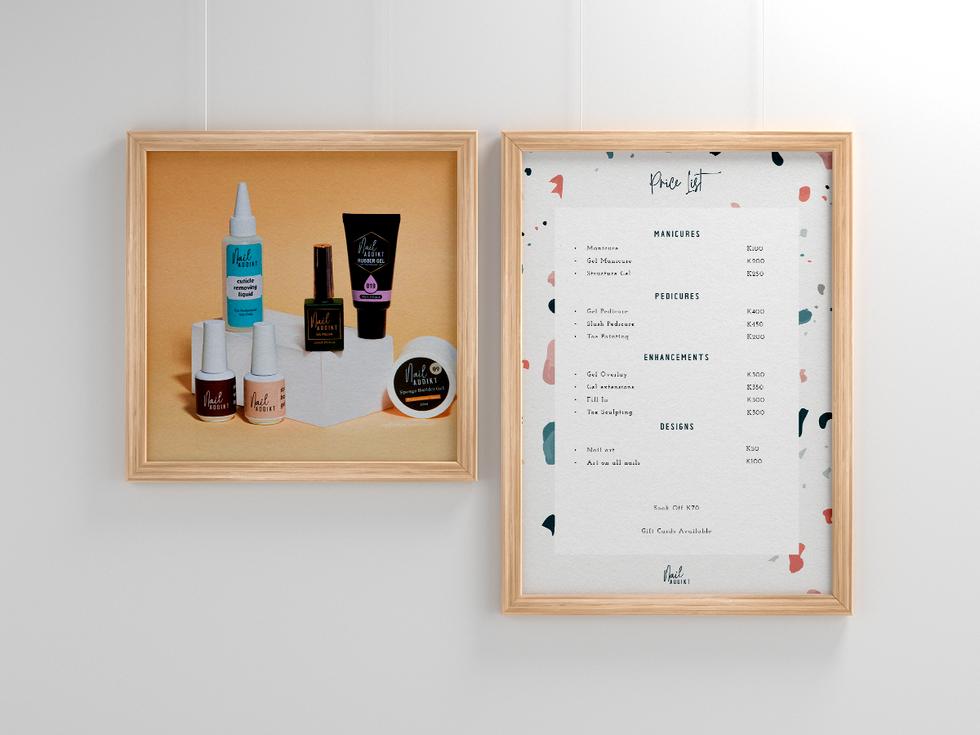 Nail salon Price List Design