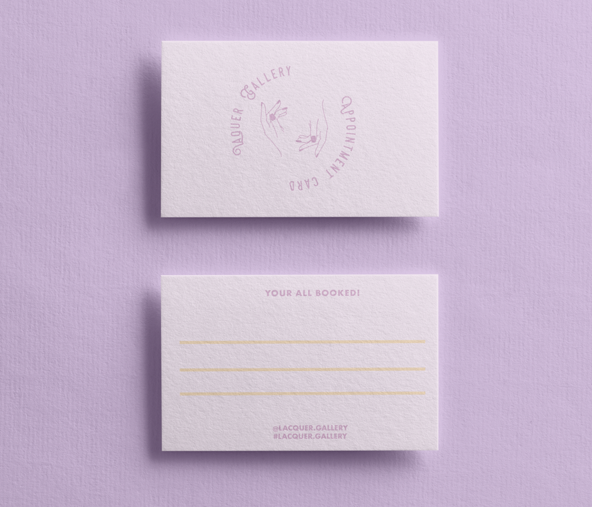 Nail Salon Appointment Card (Version 2)