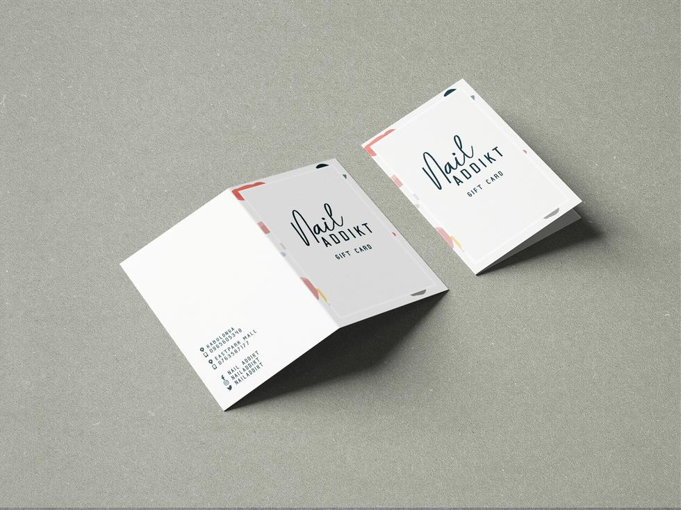 Gift Card Design Nail Salon