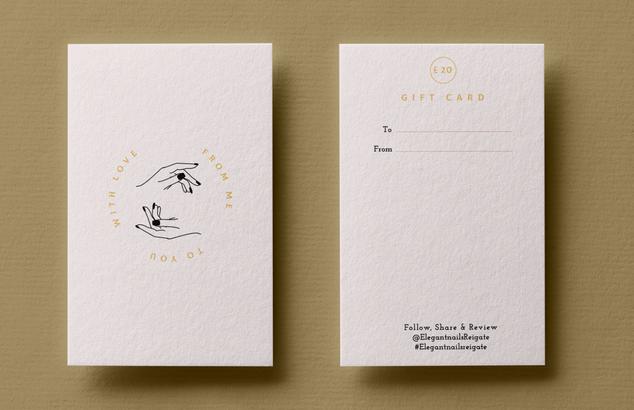 Nail Salon Gift Card Design front & back