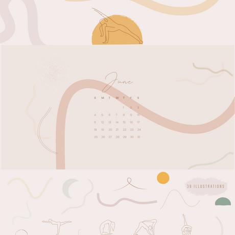 38 Yoga graphic elements